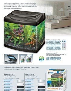 Aquarium kit gebogen glas